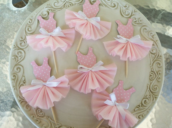 Party Dress Cupcake Toppers