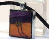 ON SALE - Cactus Love Art Pendant Necklace