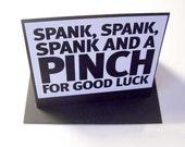 Spank Happy Birthday Greeting Card