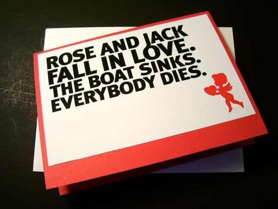 Valentines Day Card Titanic Love