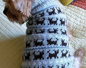 PUPPIES ON PARADE Fair Isle Dog Sweater Knitting Pattern -- NEW