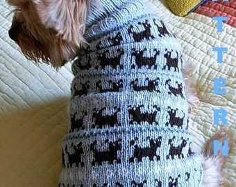 O HANUKKAH Dog Sweater Knitting Pattern Jewish Holiday