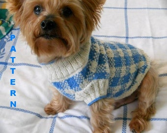 FIDO'S FLOWER GARDEN Embroidered Fair Isle Dog Sweater