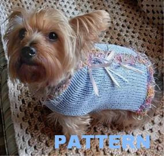 PARTY ANIMAL Dog Sweater Knitting Pattern by mysavannahcottage