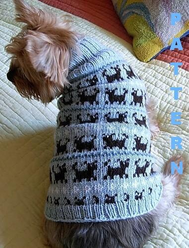 PUPPIES ON PARADE Fair Isle Dog Sweater Knitting Pattern