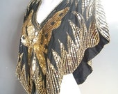 Gold Sequin Butterfly top