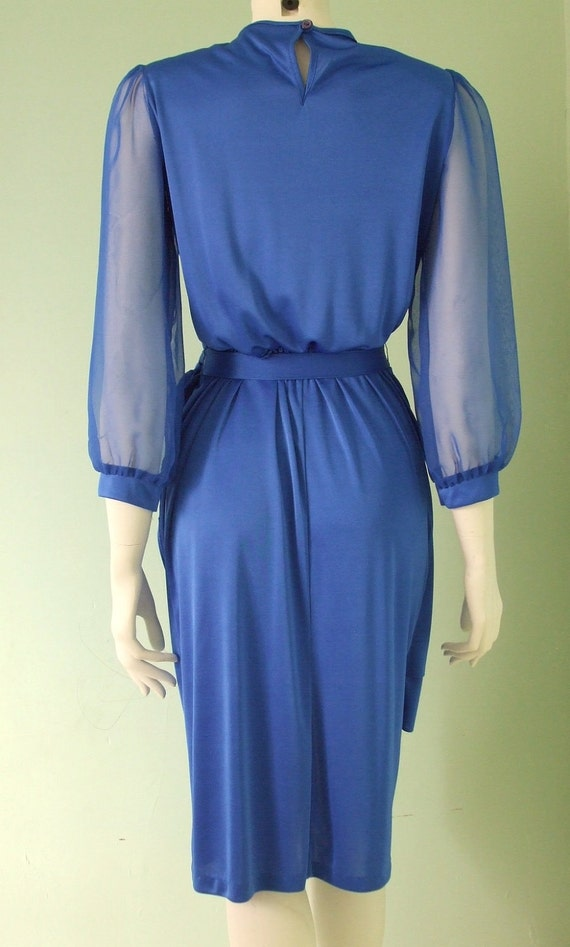 On Sale Slinky Silky Electric Blue Evening Dress
