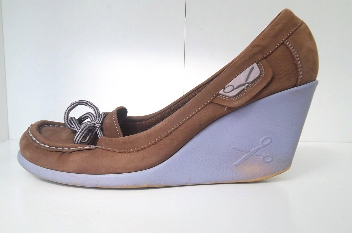 wedge platform shoes lavander heel loafer shoes womans 8
