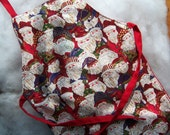 Embroidered Christmas Baby Apron - 12 months