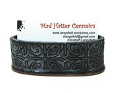 Dark Blue Textured Tin Roof Handmade Ceramic Pottery Business Card Holder