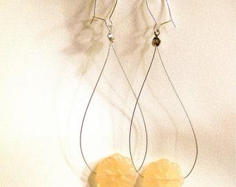 Quartz Flower Tightrope Earrings