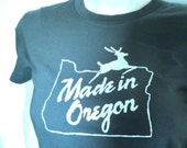 Made in Oregon T-Shirt, Women's Large or X-Large