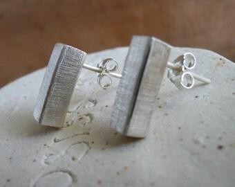 Minimalist Sterling Silver Post Earrings