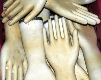 HALL CHINA Industrial Porcelain Glove Mold Unglazed