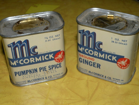1942 McCormick Spice Tins Baltimore ginger and pumpkin pie use coupon codes to save more
