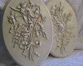 Vintage Floral  Wall Plaques