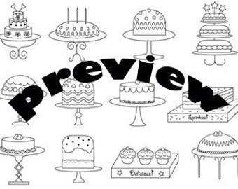 Cakes Embroidery Pattern