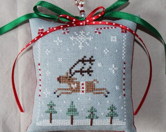 Reindeer Joy Cross Stitch Pattern