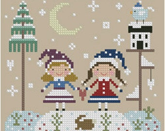 Best Friends Cross Stitch Pattern