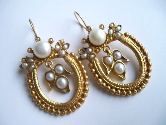 items similar to sale pearl earring on etsy