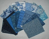 Fat Quarters 18 Blues Bundle