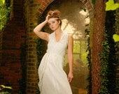 Nuno Felt, Upcycled Fabrics Halter Wrap Maxi Dress