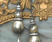 Baroque Bliss Vintage Upcycled Earrings  Pearls Gothic Gypsy Boho Chic