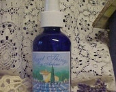 Wonderful Lavender body and linen spray 4 ounce blue plastic bottle