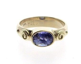 Blue Sapphire set in 14K Gold
