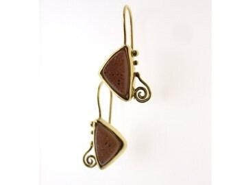 Drusy Earrings in 14k Gold