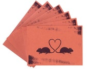 Rat Love Silhouette - Note Card Set of 6