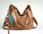 SAMPLE///Agatha Fold Over in a Toasted Brown Leather with Clip On Adjustable Strap