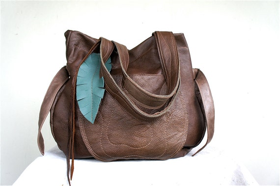 SALE/////JOSEPHINE Traveler in Slouchy Brown Leather