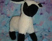 Black Face Lamb Stuffed Animal Pattern to Sew PDF Instant Download