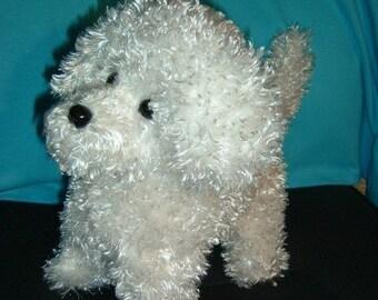 Bichon Puppy Dog Stuffed Animal Pattern to Sew