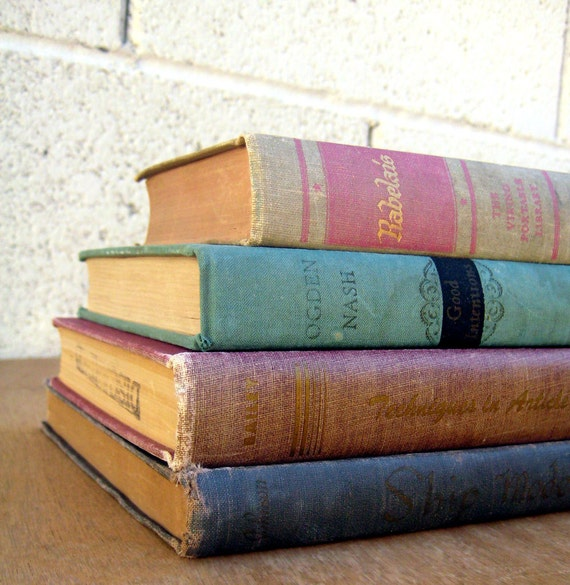 Weathered Pastel Books Instant Collection Shabby Chic Library Photo Props