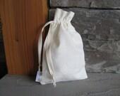 Small Organic Gift Bag, Washable, Hemp Cotton Linen