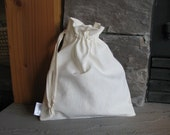 Large Organic Gift Bag, Washable, Hemp Cotton Linen