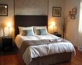 Queen Hemp Cotton Duvet Cover with Piping, Organic Bedding, Bliss1, Hemp Bedding