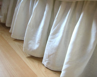 Gathered Organic Bedskirt, Bedding, Twin Hemp Cotton
