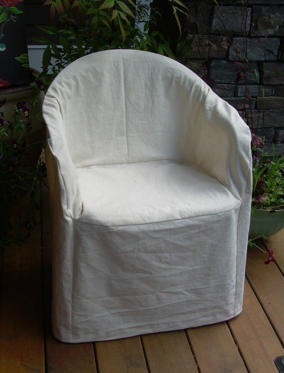 Slipcover Pattern Outdoor Resin Chair Low Back