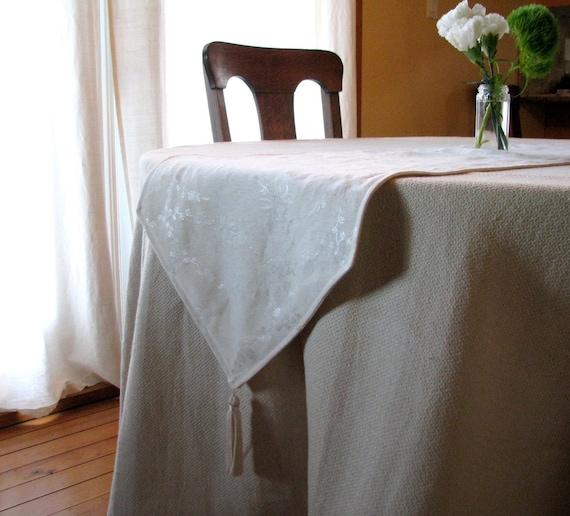Organic Hemp Silk Table Runner, Table Linens, 12x50