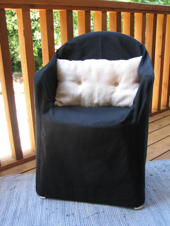 Perfect 🔎zoom   Black Resin Chair Organic Slipcover Hemp Cotton   Patio Chair  Slipcovers Reloc Homes
