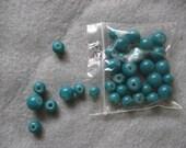 Destash Blue Glass Bead