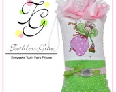 Personalized Toothless Grin Tooth Fairy Pillow - Miss Abigail