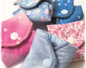 Sampler Kit SET OF 10  Cloth Mama Pads ... Regular Flow Coverage FREE Shipping