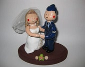 Custom Order - Beaded Beautiful Bride and Airforce Hubby