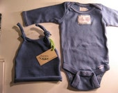 Antique Blue Long Sleeve Onesie Set