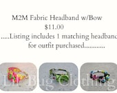 M2M Custom Boutique Childrens Headband with Bow
