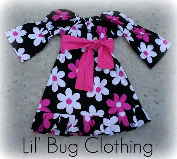 Custom Boutique Plain Jane Peasant Dress 12 18 24 2t 3t 4t 5t 6 girl